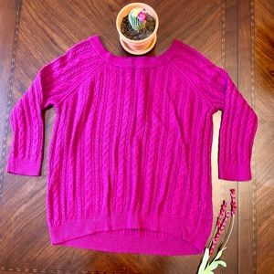 American 🦅 Eagle pink purple short sleeve sweater